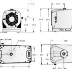 Wymiary próżniowej pompy scroll IDP-10 firmy Agilent Technologies