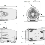 Wymiary próżniowej pompy scroll IDP-15 firmy Agilent Technologies