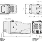 Wymiary próżniowej pompy scroll IDP-3 firmy Agilent Technologies