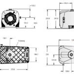 Wymiary próżniowej pompy scroll IDP-7 firmy Agilent Technologies